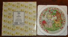 Precious Moments To My Dear Friend 3d Plate w/Box - Girl with Deer