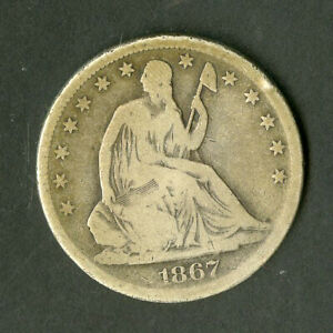 US Coin 1867-S Seated Liberty Half Dollar NO RESERVE!