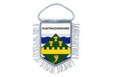 fanion mini drapeau voiture decoration souvenir blason anglais huntingdonshire