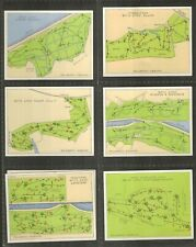 More details for players - championship golf courses - 1936 - set of l25 - very good.