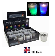 1 x LED COLOUR CHANGING CANDLE POTS Real Wax Vanilla Scented Soothing Relax Gift