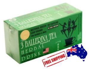 3 BALLERINA HERBAL TEA EXTRA STRENGTH 18 BAGS SLIM DIET TEA NATURAL