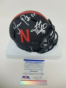 Grant Wistrom Jason Peter Nebraska Husker Eclipse Signed Autographed Mini Helmet