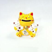 Spardose Katze Japanische Gelb Famille 85mm Porzellan Maneki Neko Japan 40579