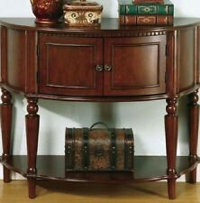 Hall Entry Way Table Storage Cabinet  Antique Half Console Foyer Wood Furniture