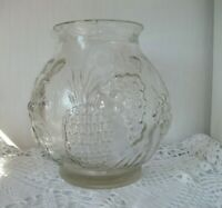 FRENCH VINTAGE -GRAND BOCAL/BOL/ VASE EN VERRE SOUFFLE PUNCH MOJITO