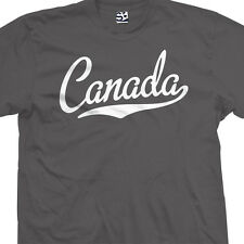 Canada Script & Tail Shirt - Canadian City Souvenir Gift Tee - All Size & Colors