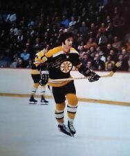 DEREK SANDERSON AUTOGRAPHED BOSTON BRUINS 16X20 PHOTO