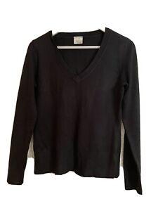 Ladies NEXT Black V Neck Jumper Size 12