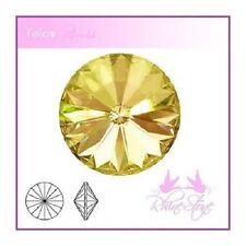 Rivoli Glas Schmucksteine Gelb Gold Kristall 14mm 2 Stück Steine zum Basteln