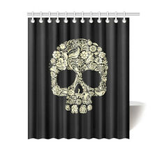 Bathroom Accessories Sugar Skull Waterproof Funny Shower Curtain 60x72 Inch