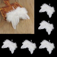 1Pc White Angel Feather Wings Christmas Tree Decor Fancy Dress Photography Props