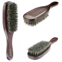 100% Pure Natural Soft Boar Bristle Wave Hair Brush Wood Handle Premium G1012B