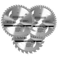 """3 X 210 mm 8 1/4"""" Hojas De Sierra Circular TCT 30 mm Anillos de reducción de diámetro 16 y 25 mm"""