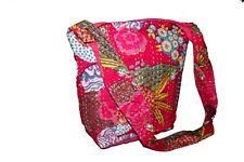 Indian Women Handbag Vintage Kantha Shoulder Bag Hobo Tote Bag Shopping Bag