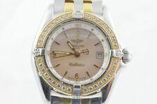 Breitling Callistino Women's Watch D52045 Stone Brilliant Aviator Band Original