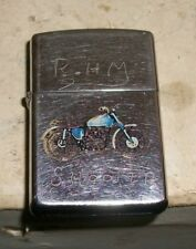 1991 Zippo Lighter Motorcycle Engraved RHM SHOOTER 7-29-52