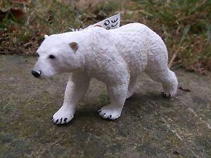 Safari Ltd quality plastic arctic mammal POLAR BEAR  - 12 x 5.5cm