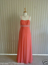 Niki for Alfred Angelo Coral Formal Dress Size 10 BNWT FREE EXPRESS POST
