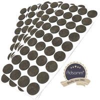 180 x Filzgleiter | Ø 24 mm | Braun | rund | 3.5 mm starke selbstklebende Filz-M