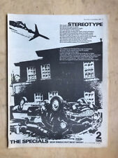 SPECIALS STEREOTYPE POSTER SIZED original SKA/TWO TONE music press advert from 1