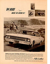1964 OLDSMOBILE F-85 CUTLASS  ~  RARE ORIGINAL BLACK & WHITE AD