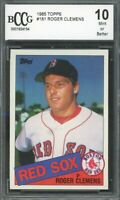 1985 Topps #181 Roger Clemens Rookie Card BGS BCCG 10 Mint+