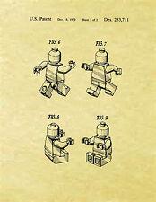 Display Art Print US PATENT for LEGO MAN Minifigure Christiansen 1979