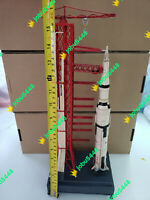 NASA - Apollo - Handmade Tin Saturn V Rocket & Launch Pad Tinplate Model