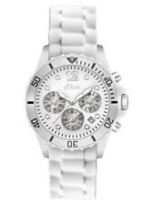 S.Oliver Unisex Watch so-2141-pc Analogue Chronograph Silicone White