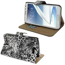 Tigre Funda Libro Estuche Para Móvil Samsung s7560 Galaxy Trend negro