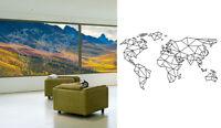 Sticker Autocollant Mappemonde - Carte du monde - Pour Fenetre Window - 1OR016