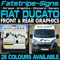 FIAT DUCATO GRAPHICS STICKERS STRIPES DECALS DAY VAN CAMPER MOTORHOME LWB EXLWB