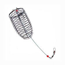 Lure Cage Stainless Steel Fish Bait Basket Feeder Holder Portable Fishing Catch