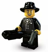 LEGO MINIFIGURE MINIFIG SERIES 5 GANGSTER CROOK SUIT HAT GUN FIGURE 8805 NEW CMF