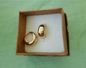Orecchini Placcati Dorati in Oro Giallo 18k Modello Cerchio Elegante per Donna