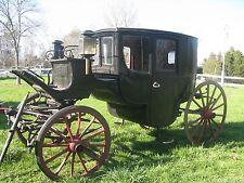 1890's Horse Drawn Clarence Gentleman's Brougham Carriage ORIGINAL Very Rare!