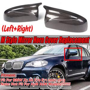 For BMW X5 E70 X6 E71 Carbon Fiber Mirror Cover 2007 2008 2009 2010