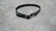 1/6 High Sierra Black Genuine Leather Belt with Chrome Buckle