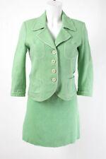 RENE LEZARD Kostüm Gr. S 36 Leinen-Baumwolle Blazer Rock Casual Business Suit