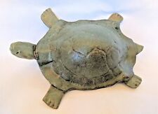 HANDMADE Hawaiian Sea Turtle Large Clay Figurine ~ Signed Sheila 4/00