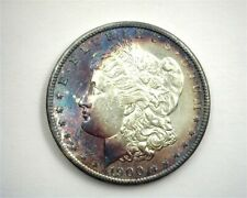 1900-S MORGAN SILVER DOLLAR GEM UNCIRCULATED IRIDESCENT TONING!