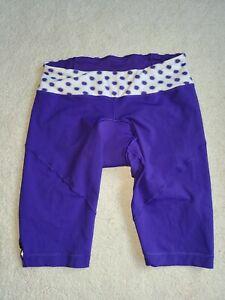 """Lululemon Cycling Shorts Woman's Size 6 Padded Purple Reflective 11"""" Inseam"""
