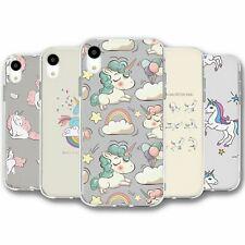 Para iPhone XR Silicona Funda Cubierta Unicornio Colección 5