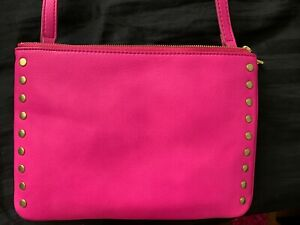 Fossil Brand New Sadie Pink crossbody Leather Purse NIP