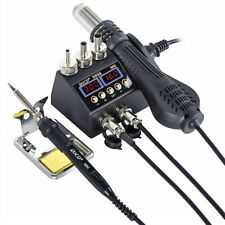 2 in 1 750W Soldering rework station hot air LCD Digital, SMD.