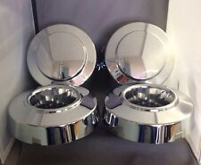 NEW 1999-2004 FORD F350 1-ton Dually Front & Rear 4x4 Chrome Center Cap SET