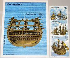 SOMALIA 2002 979-81 Block 97 Schiffe Sailing Ships Segelschiffe 16th cent. MNH
