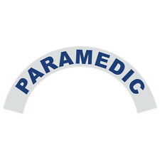 Paramedic Blue Helmet Crescent Reflective Decal Sticker