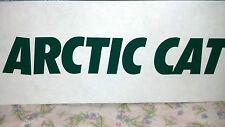"ARCTIC CAT, Snowmobile, DARK GREEN, Sticker/Decal, 9"" x 1-1/2"""